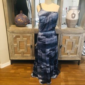Michael Kors Blue Tiered Maxi Dress